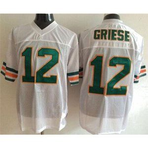 Bob Griese White Throwback Stitched Jerseys